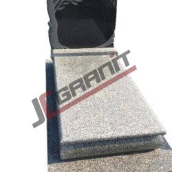 nagrobek granitowy pojedyczny (wzór N18, JC Granit)