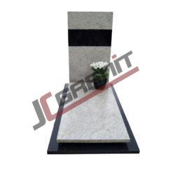 nagrobek nowoczesny granitowy pojedyczny (wzór N22, JC Granit)