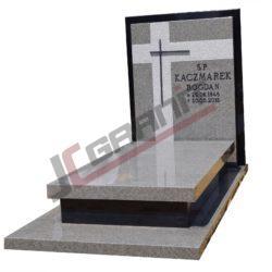 nagrobek granitowy pojedyczny (wzór N19, JC Granit)