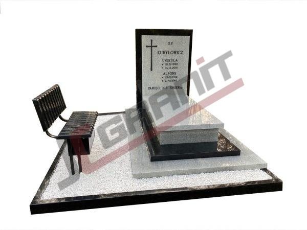 Nagrobek granitowy - wzór JC Granit N165