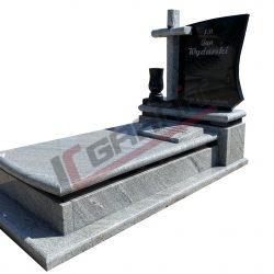 Nagrobek granitowy pojedynczy, wzór N167, granity: Szwed, Viscount White