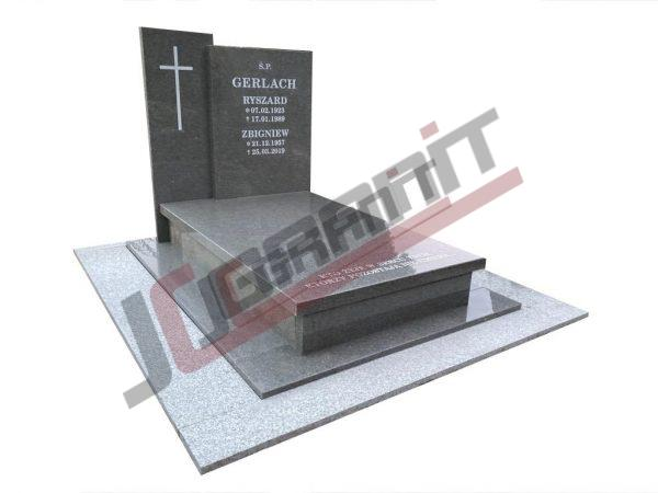 Nagrobek granitowy - model N164 - Kamieniarstwo JC Granit - Strzegom
